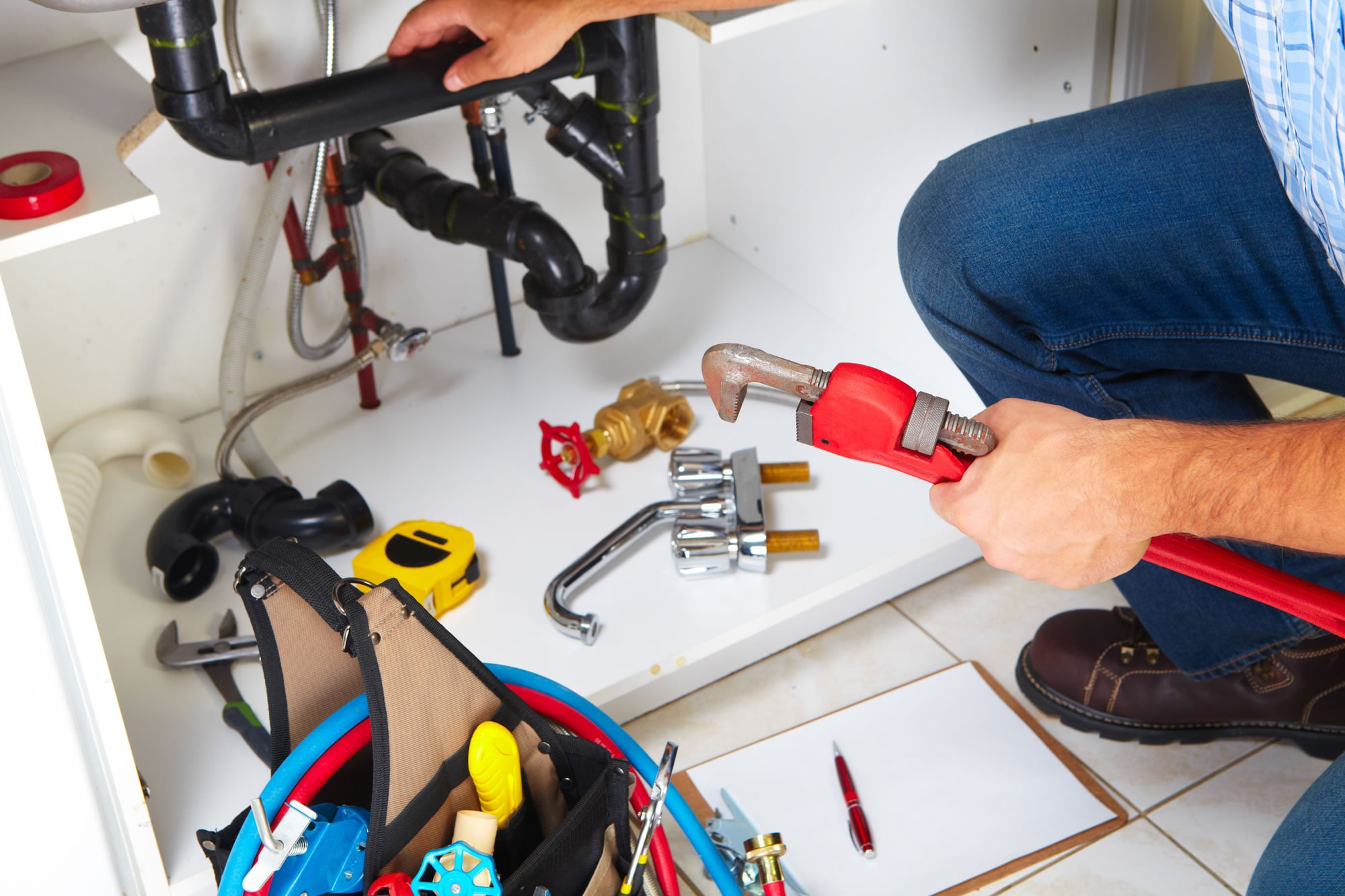 Kitchen sink plumbing repair by Goolsby Bros Plumbing & Electrical